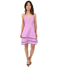 Halston Halter Neck Dress With Layered Skirt Tulip Black Women's Dress Pink