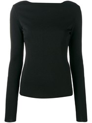 Givenchy Back Floral Lace Detail Jumper Black