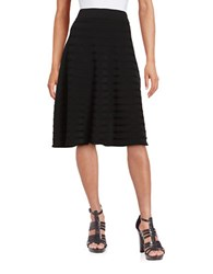 Calvin Klein Ribbed Knit A Line Skirt Black