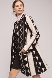 Anthropologie Graphic Deadre Coat Black Motif