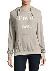 Wildfox Couture Cat Ear Hooded Long Sleeve Pullover Grey