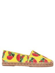 Dolce And Gabbana 20Mm Watermelon Brocade Espadrilles