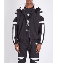Boy London Eagle Hooded Shell Bomber Jacket Black