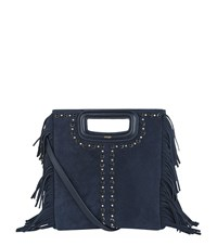 Maje Fringed Studded Bag Female Blue
