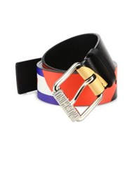 Moschino Fantasy Leather Belt Multicolor