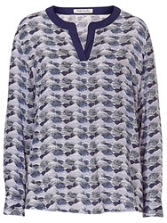 Betty Barclay Graphic Print Blouse Blue
