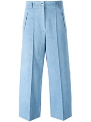 Barbara Bui Wide Legged Cropped Jeans Blue