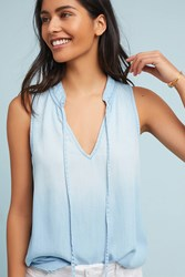 Cloth And Stone Chambray Tank Blue