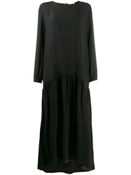 Semicouture Full Length Day Dress Black