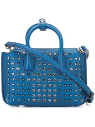 Mcm Studded Crossbody Bag Blue