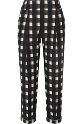 Temperley London Checked Cotton Tapered Pants