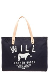 Will Leather Goods 'Small Classic' Tote Blue Navy