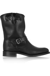 Frye Jet Engineer Leather Boots Black