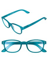 Corinne Mccormack Women's Colorspex 50Mm Blue Light Blocking Reading Glasses Teal