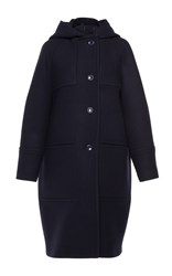 Martin Grant Hooded Duffle Coat Navy