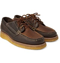 Yuketen Country Ranger Two Tone Grained Leather Derby Shoes Brown