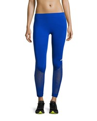 Adidas By Stella Mccartney The Seamless Mesh Tights Bold Blue