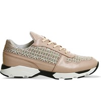 Mercer Wooster Leather Trainers Tweed Pink