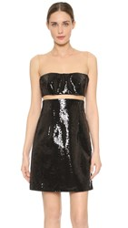 Kaufman Franco Liquid Sequin Floating Dress Jet