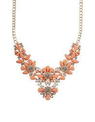 Lipsy Statement Opaque Flower Collar Necklace Silver