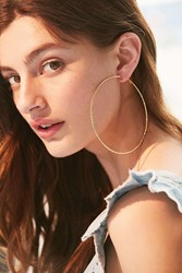 Urban Outfitters Tess Textured Hoop Earring Gold