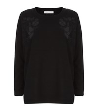 Sandro Benny Lace Flower Sweater Female Black