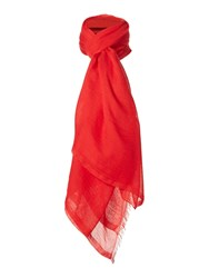 Hugo Boss Large Square Scarf Red