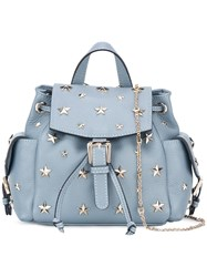 Red Valentino Star Studded Backpack Blue