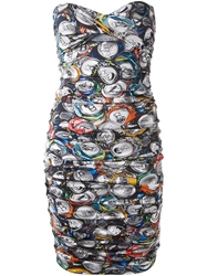 Moschino Cans Print Tube Dress Black