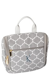 Cathy's Concepts Monogram Travel Kit Grey