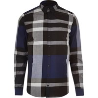 Vito River Island Mens Black And Blue Shirt
