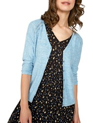 Fat Face Rose Cardigan Chambray