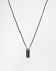 Icon Brand Caged Crystal Necklace Black