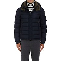 Moncler Men's Down Quilted Hooded Parka Navy