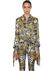 Versus By Versace Archive Printed Satin Shirt Multicolor