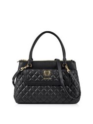 Love Moschino Classic Quilted Flap Tote Black