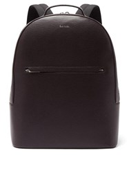 Paul Smith Embossed Leather Backpack Burgundy