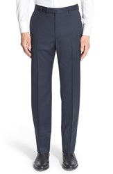 Men's Z Zegna Flat Front Check Wool Trousers
