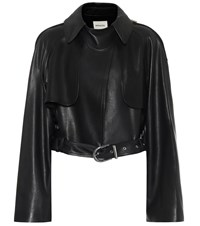 Khaite Krista Leather Jacket Black