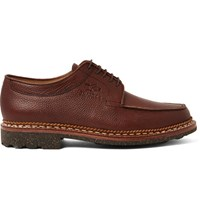 Yuketen Heschung Pebble Grain Leather Derby Shoes Chocolate