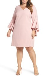 Eliza J Plus Size Women's Bell Sleeve Crepe Shift Dress
