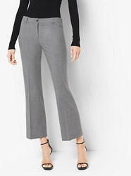 Michael Kors Stretch Wool Cropped Pants Grey