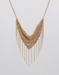 Asos Chainmail Shower Necklace Gold
