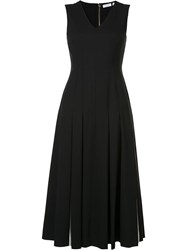 Vionnet Pleated Midi Dress Black