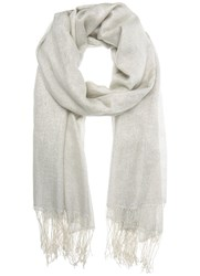 Mint Velvet Silver Scarf Neutral