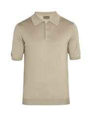 Kilgour Silk Blend Polo Shirt Beige