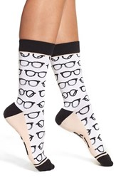 Woven Pear Women's 'I See You' Crew Socks