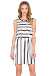 1. State Sleeveless Pop Over Dress White