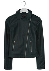Dorothy Perkins Faux Leather Jacket Green