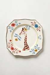 Anthropologie Nature Table Dessert Plate Brown